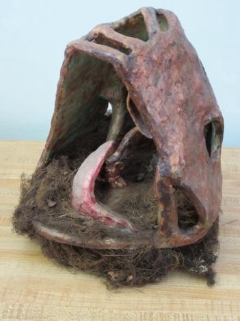 Cave 10, H x 8 x 7 inches, mixed media box sculpture