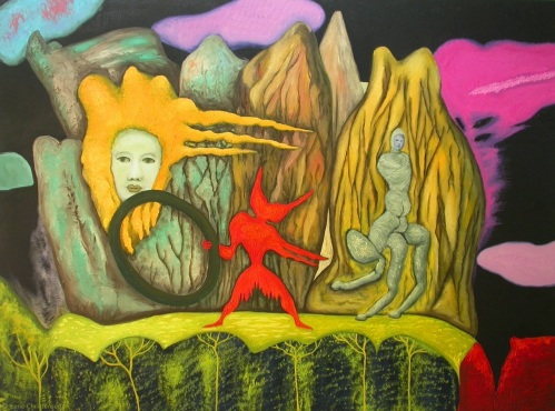 Mindscape of the Night, 48 by 36 inches, oil